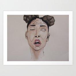 FKA Twigs watercolor  Art Print