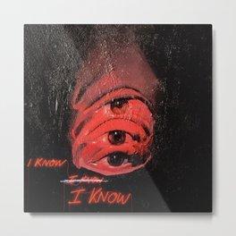 I Know, Eye Know Metal Print