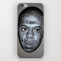 jay z iPhone & iPod Skins featuring JAY-Z by Jahwan by JAHWAN