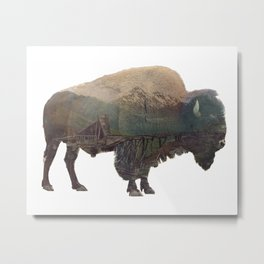 Bison and Independence Mine Metal Print