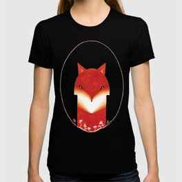 Red fox, watercolor illustration T-shirt