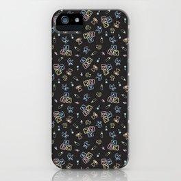 Baby Symbols Scribble - Black Chalkboard iPhone Case