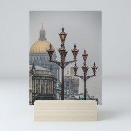 Street lights of Saint Petersburg Mini Art Print