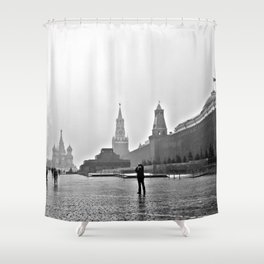 gray and red shower curtain. Red Square Shower Curtain Moscow Curtains  Society6