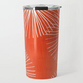 Dandelions in Red by Friztin Travel Mug