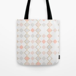 Pattern Rose Tote Bag