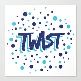 Twist N.13Bis Modele Rond Canvas Print