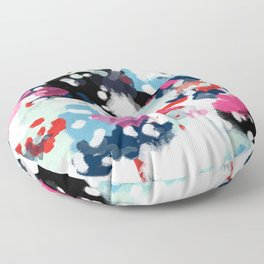 Paige - abstract painting hipster home decor trendy color palette art gifts Floor Pillow