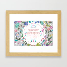 The Greatest Commandment | Matthew 22:36-38 Framed Art Print