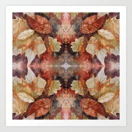 Leaf Mandala no 12 Kunstdrucke