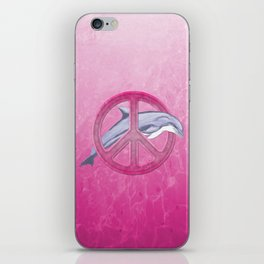 Dolphin Pink Peace iPhone Skin