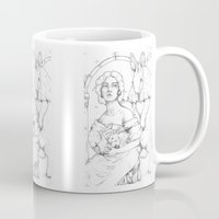 bunnies Mugs featuring Bunnies  by Jessica Bowman Illustrates