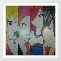 fairy tail Art Prints featuring Fancy Fairy Tail Arrangement One by X21DaysOfMoonX