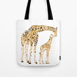 family girrafes, watercolor Tote Bag