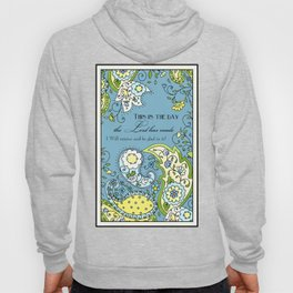 Hand Drawn Paisley Floral, Flower n Leaf Scroll Inspirational Text Hoody