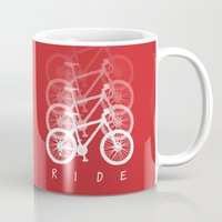 bikes Mugs featuring Bikes by ClicheZero