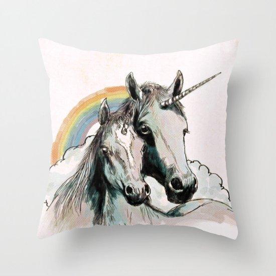 Unicorn III Throw Pillow