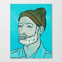 zissou Canvas Prints featuring Zissou by KatieHuman