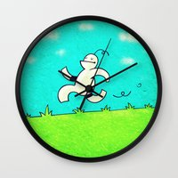 running Wall Clocks featuring Running... by MaComiX