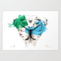 carousel Art Prints featuring Carousel by Rafael Igualada