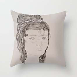 Sister (right) Throw Pillow