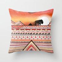 journey Throw Pillows featuring Journey by Sandra Dieckmann