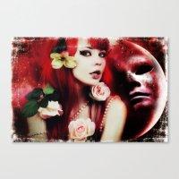 melissa smith Canvas Prints featuring Melissa by Florian Ruocco a.k.a AKSHOBHYIA