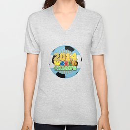 2014 World Champs Ball - Argentina Unisex V-Neck