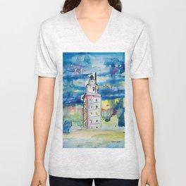 Torre de Hércules Unisex V-Neck
