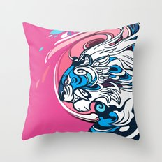 Whirlwind Tiger Throw Pillow