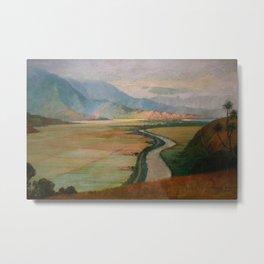 Hanalei Valley, Kauai, Hawaiian landscape painting by D. Howard Hitchcock Metal Print
