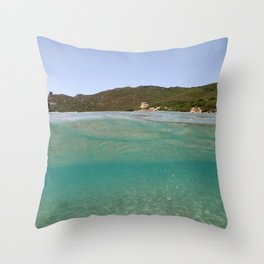 Sardinia underwater - emerald Throw Pillow