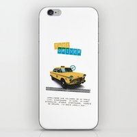 taxi driver iPhone & iPod Skins featuring Taxi driver by Marta Colomer