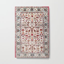 Qum Central Persian Rug Print Metal Print