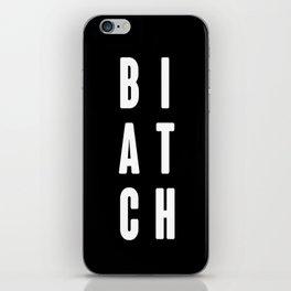 B I A T C H - Hipster -   Black Case   iPhone Skin