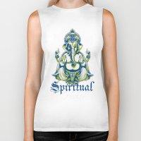 spiritual Biker Tanks featuring Spiritual healer  by Tshirt-Factory