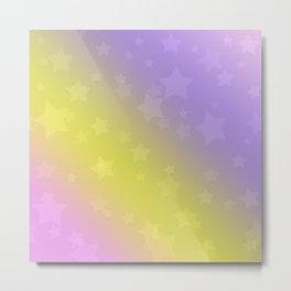 Star rain yellow, pink . Metal Print