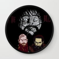 wwe Wall Clocks featuring WWE - The Wyatt Family by Chaotic Color