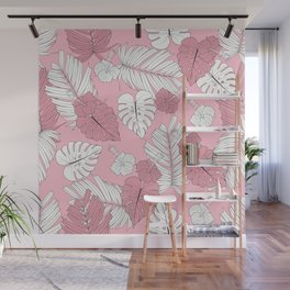 Pretty And Pink In The Tropical Jungle Wall Mural