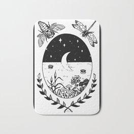 Moon River Marsh Illustration Bath Mat