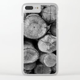 Pile of chopped firewood Clear iPhone Case