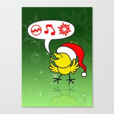 Christmas Chicken Making a Wish Canvas Print