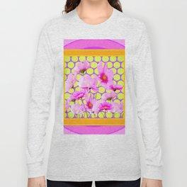 MODERN PINK COSMOS GARDEN ART Long Sleeve T-shirt
