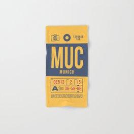 Luggage Tag B - MUC Munich Germany Hand & Bath Towel
