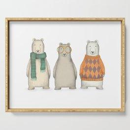 The Three Gentlemen Well-Dressed Bears. Serving Tray