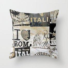 Italia Print Throw Pillow