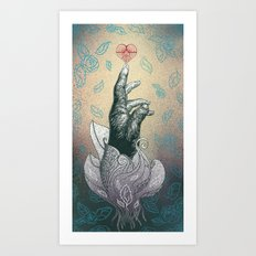 Reach your heart Art Print