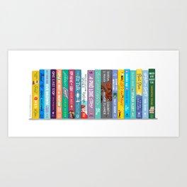 Romance Books III Art Print