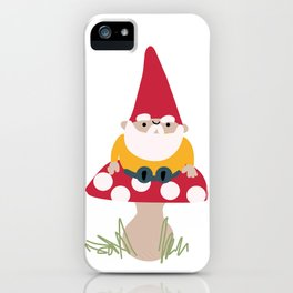 The Paper Gnome on a Mushroom iPhone Case