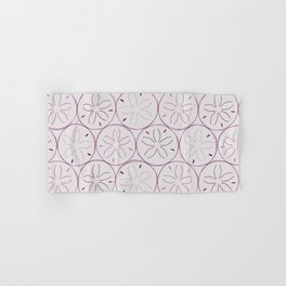 Sanddollar Pattern in Purple Hand & Bath Towel